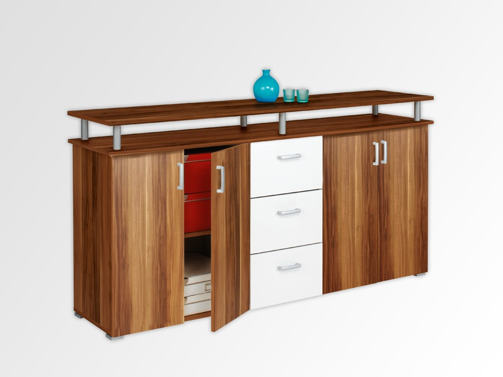 swift sideboard weiss merano wohnzimmer schrank. Black Bedroom Furniture Sets. Home Design Ideas
