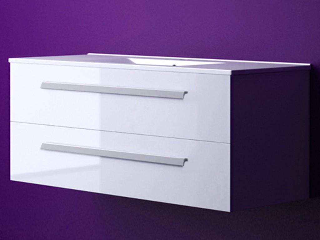 waschbeckenunterschrank waschbecken unterschrank palma 120 cm weiss hochglanz ebay. Black Bedroom Furniture Sets. Home Design Ideas